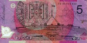 Five dollar note backside